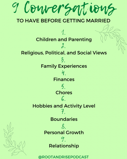 Planning a Marriage